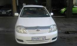 Toyota corolla 1.4 white in color 2007 model 97000km R70000 for sale