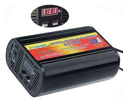 SUOER 12V/24V 20A Battery Charger With LCD Screen