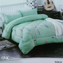 6by 6 ,5*5 duvets with matching bedsheet and 2 pillow cases