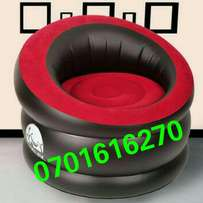 Classy air inflatable relax seats with red velvet