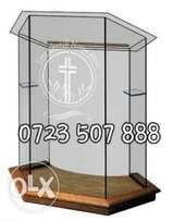 Elegant glass podiums