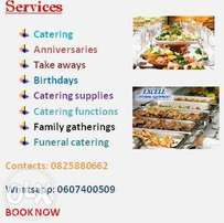 For your catering events look no further.