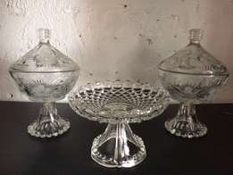 Cut glass Items for sale