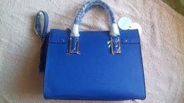 9967ce5fcf340 Torba biznesowa niebieska duża Kolekcja limitowana CasaDi Rosa +Gratis