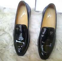 Giuseppe Zanotti Glossy Leather Loafers Shoe