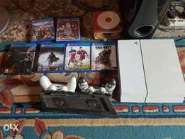 Ps4 500gb with 2pads,6games.