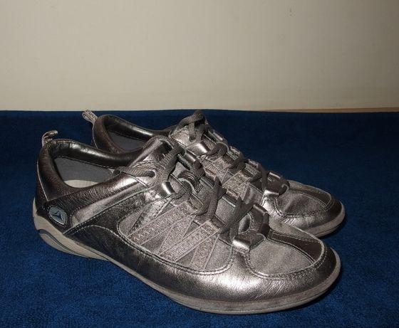 53a7b9d8deae Srebrne wiosenne półbuty damskie buty sportowe na wiosnę clarks 36  Legionowo - image 1