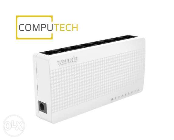 Tenda 8-port Ethernet Switch S108 is a desktop switch specially design