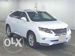 Lexus RX 450h pearl white colour 2011 model fullyloaded
