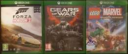 XBOX ONE GAMES X 3 R400 EACH in covers as new