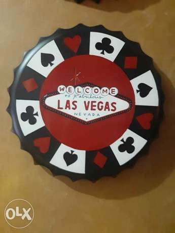 Bottle cap vegas wall decor