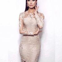 Вечернее бежевое платье Vlada Kosova новое випускне плаття dbd795a22d8cc