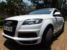 A Clean Audi Q7 with panaromic sunroof is available for sale