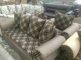 New material a five seater with cushions of high-density