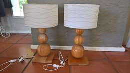 set of side lamps with shades