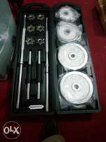 Imported 50kg case dumbbells comes wt long nd short bar