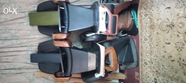 4 barber chairs