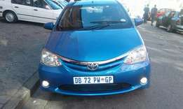 2014 Toyota etios 1.5 SX, 75000 km for R99000