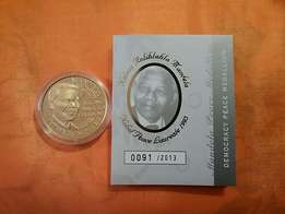 Nelson Mandela Democracy medallion 25gm