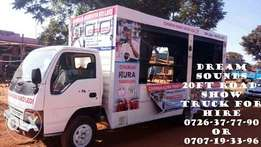 Roadshow trucks for Mps, Governer, MCA etc. Cheapest PA tools for hire