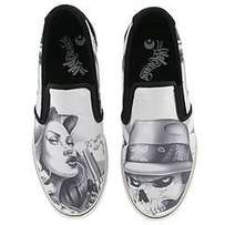 Limited edition/collectors Osiris Scoop White/Black Abel Slip on shoes