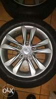 16 inch hyundai rims with tyres