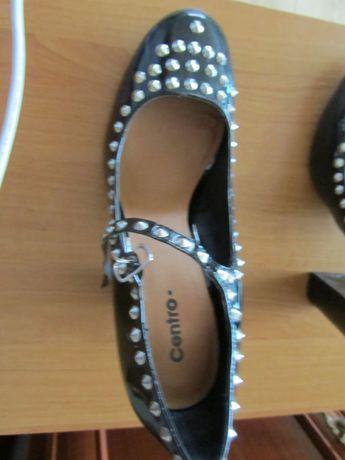 b3660329 Buty na wiosnę - jesień pantofle lakier, ćwieki na słupku 10 cm roz ...
