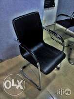 Strong Leather Visitors Office Chair