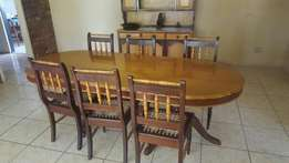 Yellowwood and Embuia dining room suite