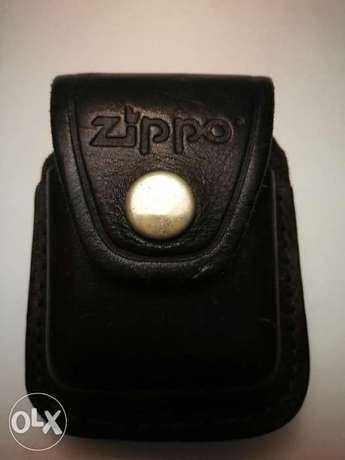 Zippo J grade with leather pocket