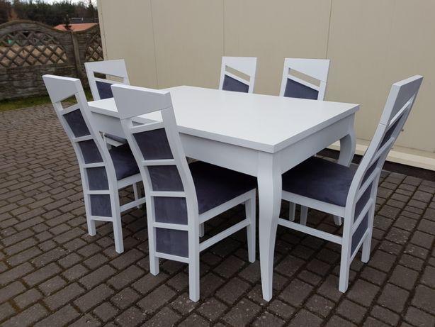 Krzeslo Tapicerowane Biale Nowoczesne Eleganckie Do Jadalni Salonu