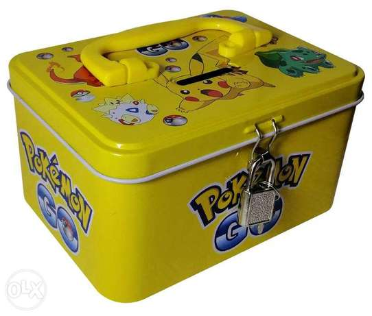 Brand New Cuboid Money Box - Pokemon