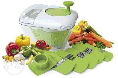 All In One Salad Bowl 5 Blades Kitchen Grater Slicer Chopper