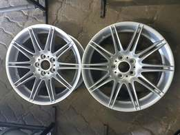 "BMW 19"" Twin Spoke Mag Wheels"