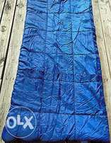 Sleeping Bags: Blue with yellow lining. Very comfortable and warm.