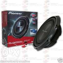 Pioneer TS SW2502S4 single 4 ohm 10 inch slim subwoofer.