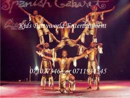 For hire acrobatic show,stilt walkers,fire eater,skaters acrobats,etc