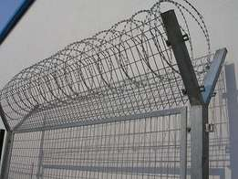 Razor wire and electric fences