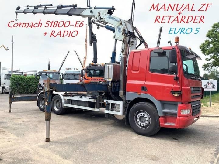 DAF CF 85.410 - 6X4 - EURO 5 - MANUAL ZF + CRANE CORMACH 51.800 - 2007