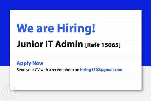 Junior IT Admin with Linux Experience (Ref# 15065)