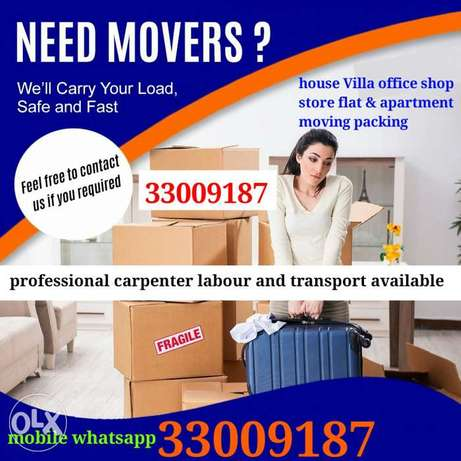 All over Bahrain moving packing company professional services