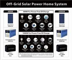 Off-grid Solar Power Home System