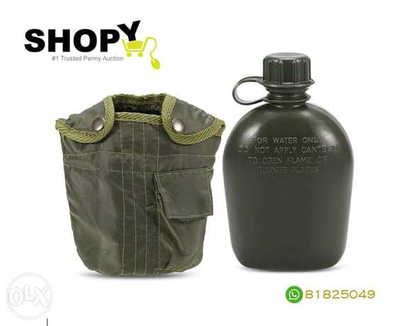 Canteen Bottle Camping Hiking Backpacking Survival Water Bottle
