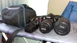 Nikon Camera D3100 with two Lenses