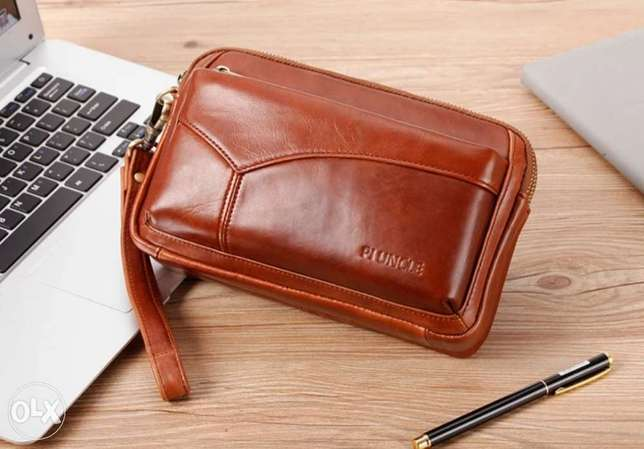 Leather Clutch bag high quality الرياض -  1
