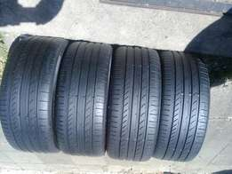 4 x continental tyres 225/40/18 normal