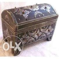 Handmade Moroccan Imported Detailed design decorated chest