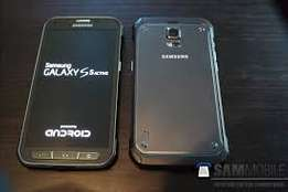 Samsung S5 active with 16gb from UK.