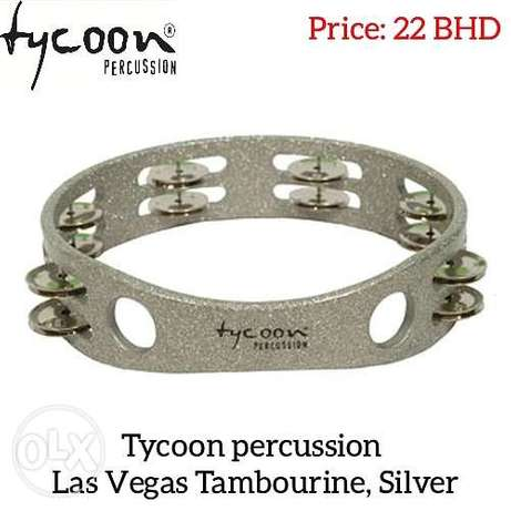 New Tycoon percussion Las Vegas Tambourine, Silver available in stock