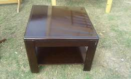 Dark Square Side Table